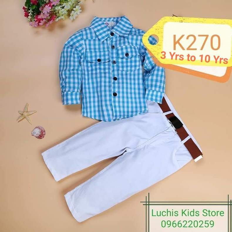 Kids top and down suit