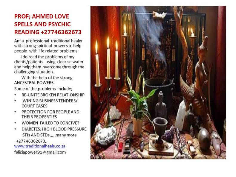 @AHMED LOVE SPELLS @PSYCHIC READING +27746362673 INSTANT RESULTS