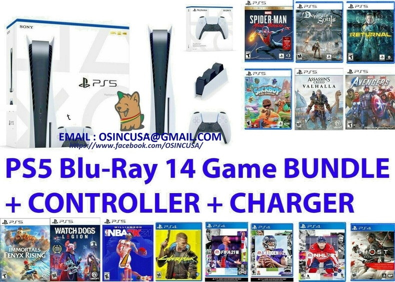 Sony PlayStation 5 disc version bundle + 14 free games $500USD