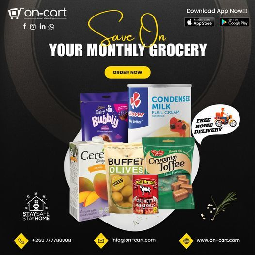 Grocery Products Shopping Online in Zambia