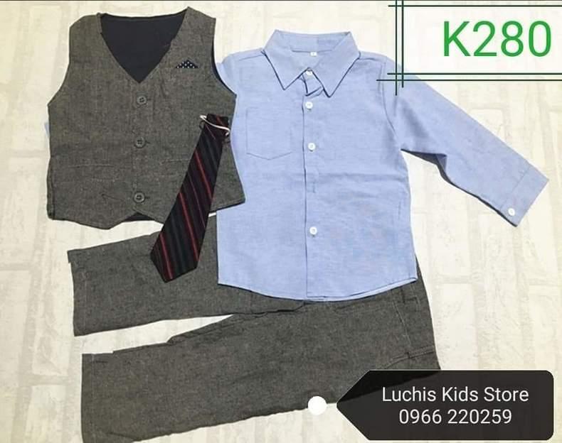 Kids Smart Grey Suit
