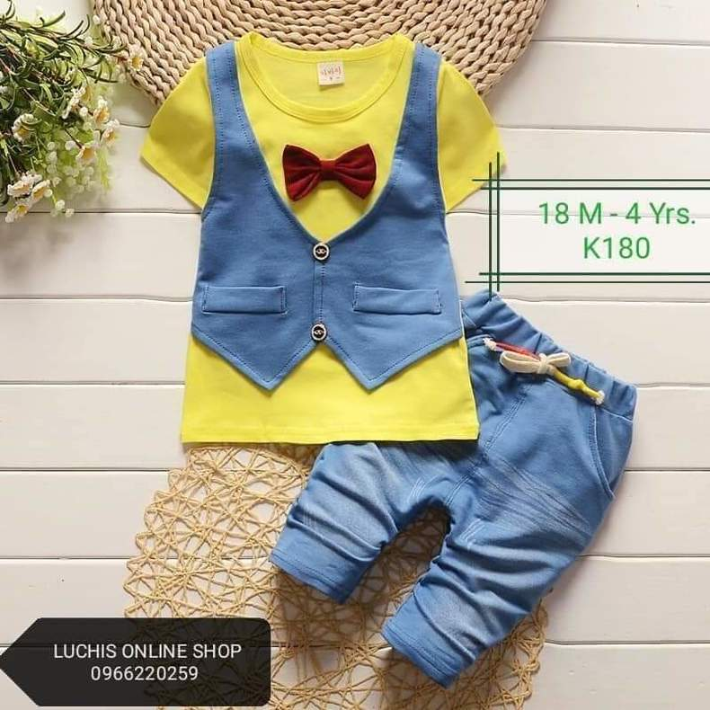 Kids casual short sleeved suit