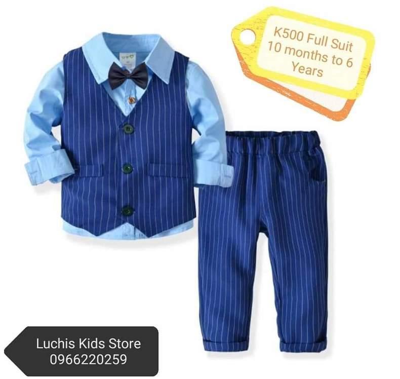 Kids blue smart suit