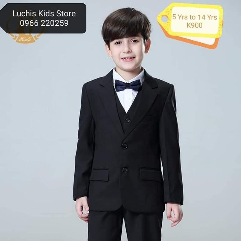 Boys Black Smart Suit